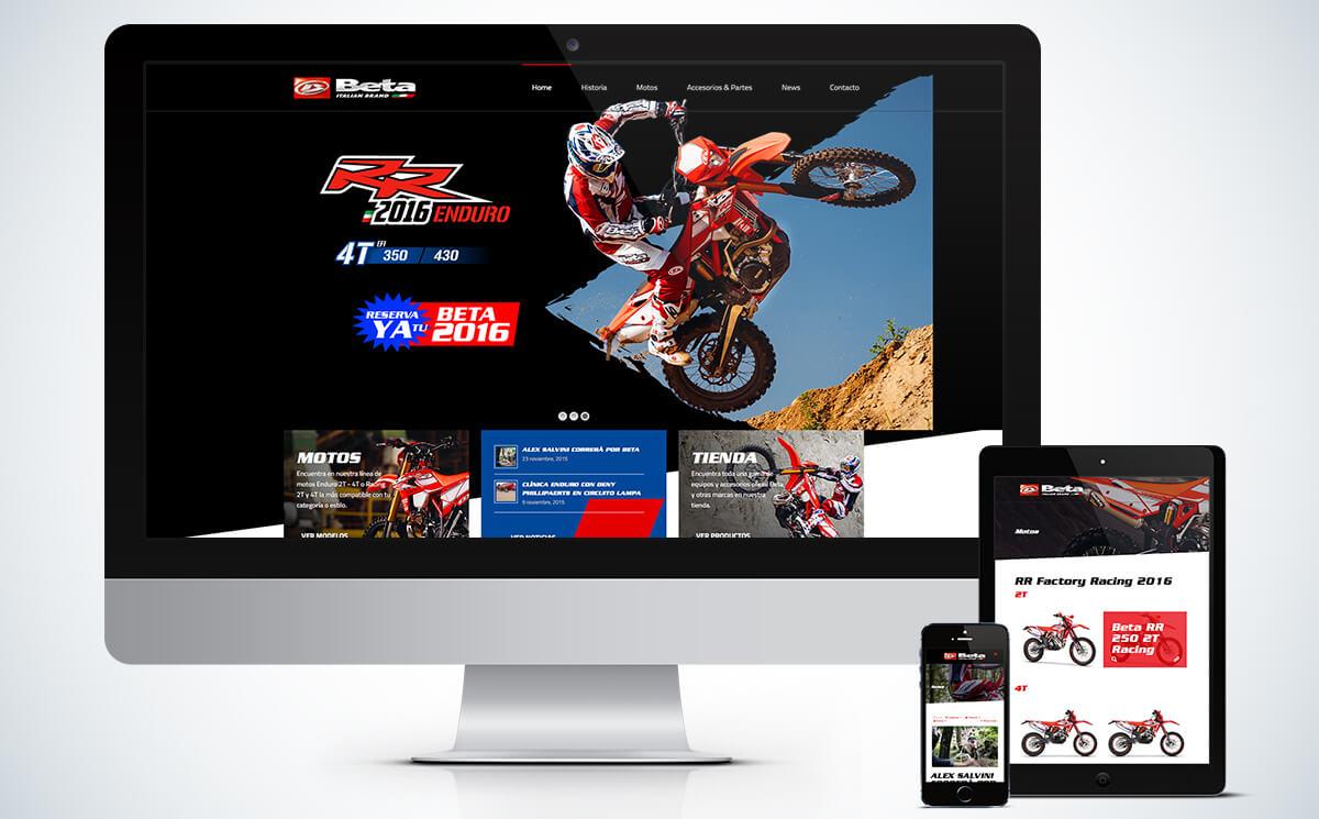 Website Betamotor Chile